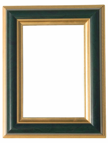 Mirror - Object「green and gold art frame: with clipping path」:スマホ壁紙(13)