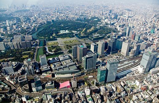 東京都中央区「Imperial Palace and Tokyo Station」:スマホ壁紙(7)