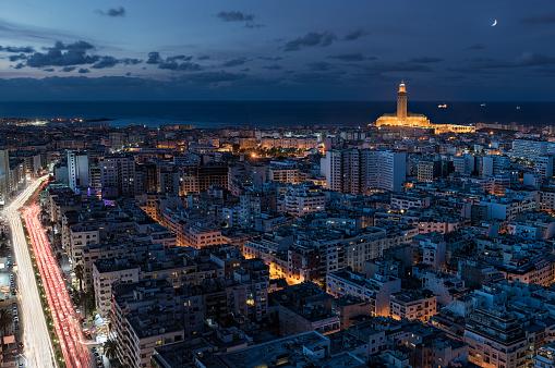 Morocco「Skyline and Hassan II Mosque, Casablanca, Morocco」:スマホ壁紙(19)