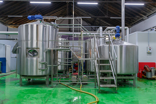 Image processing filter「Large steel tanks and pipeline in brewery」:スマホ壁紙(8)