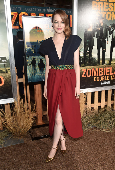 "Emma Stone「Premiere Of Sony Pictures' ""Zombieland Double Tap"" - Red Carpet」:写真・画像(2)[壁紙.com]"