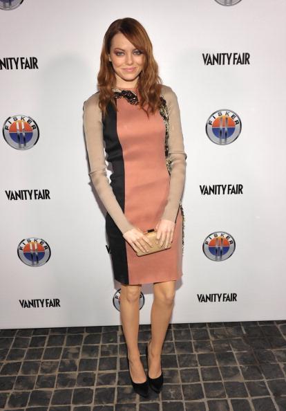 "Emma Stone「Vanity Fair & Fisker Automotive Toast Dreamworks Pictures Golden Globes Best Drama Nominations ""The Help"" And ""War Horse""」:写真・画像(19)[壁紙.com]"