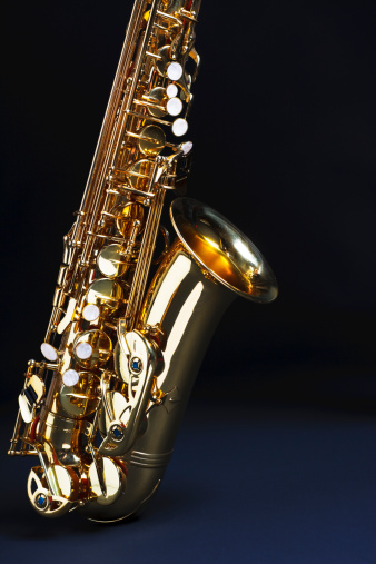 Rock Music「Saxophone with copy space」:スマホ壁紙(14)