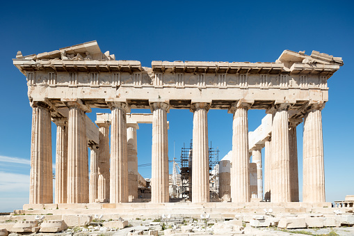 Ancient Civilization「Frontal portico of the Parthenon on Acropolis Hill, Athens」:スマホ壁紙(9)
