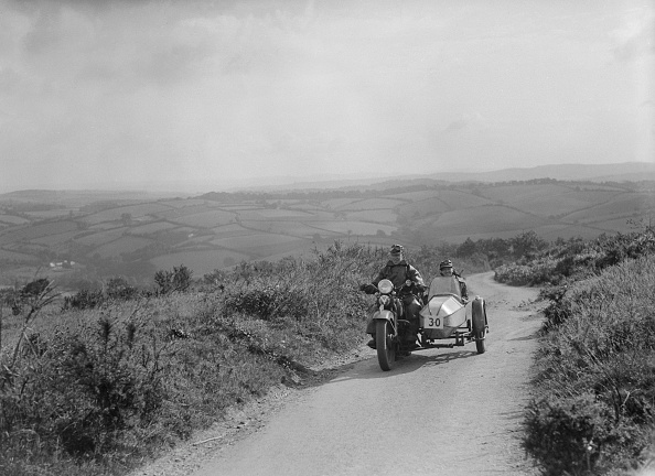 Motorsport「Harley-Davidson and sidecar of RW Praill competing in the MCC Torquay Rally, 1938」:写真・画像(13)[壁紙.com]