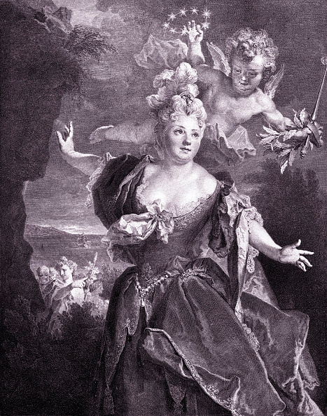 Culture Club「Marie-Anne de Châteauneuf, called Mademoiselle Duclos - portrait of the French actress in 1714 in the title role of Ariadne in the play by the French dramatist, Thomas Corneille. Engraving after the painting by the French painter, Nicolas de Largillière.」:写真・画像(5)[壁紙.com]