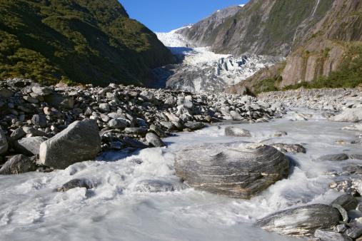 Westland - South Island New Zealand「River in front of the Franz Josef Glacier.」:スマホ壁紙(8)