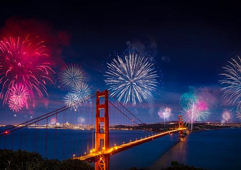 花火「サンフランシスコの花火」:スマホ壁紙(3)