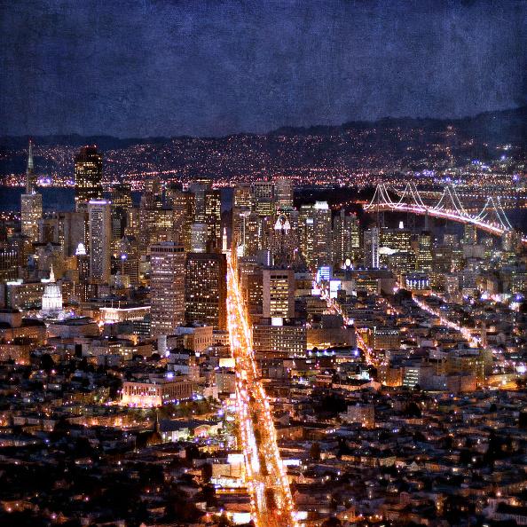 Night「San Francisco, California, USA (painterly)」:写真・画像(12)[壁紙.com]