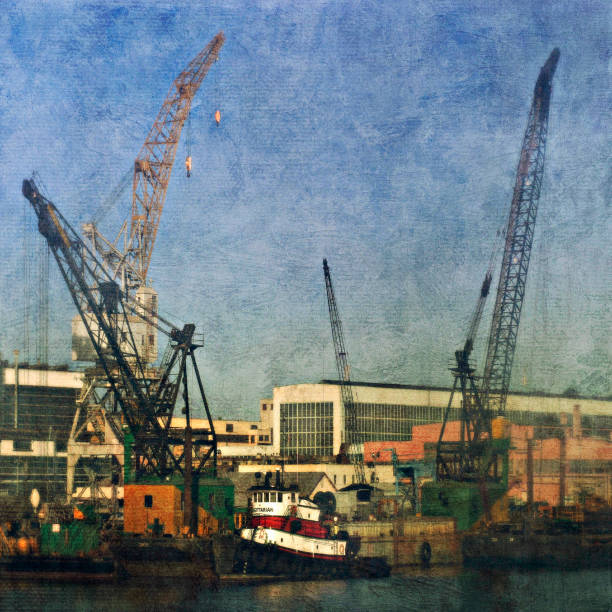 San Francisco docks, California, USA (painterly):ニュース(壁紙.com)