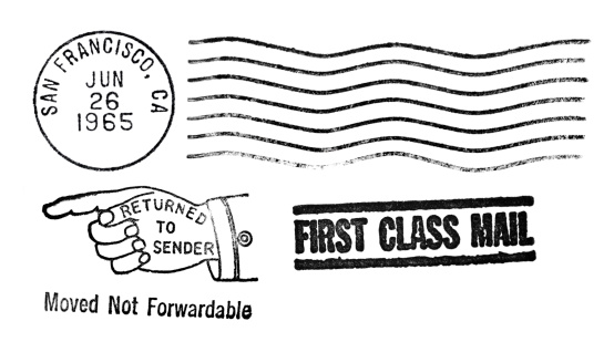 Postmark「San Francisco, California Vintage Postmark」:スマホ壁紙(6)