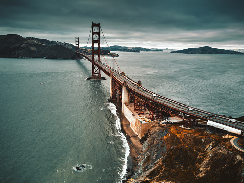 California State Route 1「san francisco golden gate bridge aerial view」:スマホ壁紙(15)