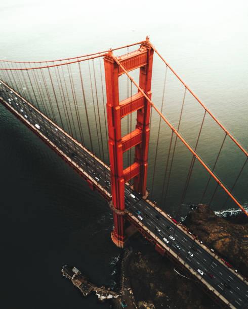 san francisco golden gate bridge aerial view:スマホ壁紙(壁紙.com)