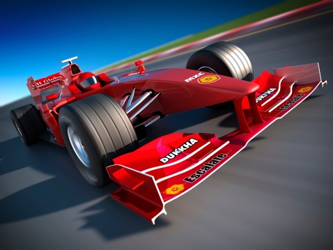 Motorsport「F1 car on racetrack, clipping path included」:スマホ壁紙(18)