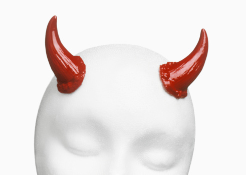Evil「Costume red devil horns for use as design element」:スマホ壁紙(8)