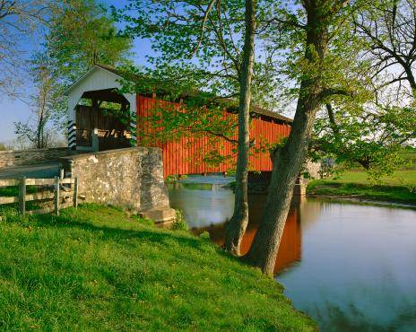 Pennsylvania「Erb's covered bridge in Lancaster County, Pennsylvania」:スマホ壁紙(12)