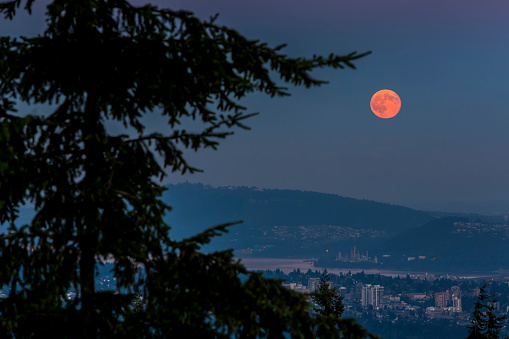 Moon「Supermoon over Cypress Mountain」:スマホ壁紙(12)
