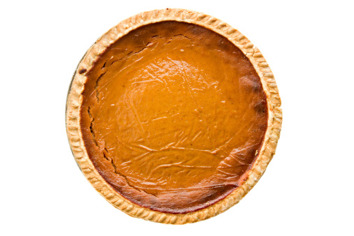 Pumpkin Pie「Whole Pumpkin Pie Overhead Isolated」:スマホ壁紙(2)