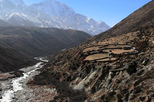 Khumbu「Orsho village, Imja Khola river valley」:スマホ壁紙(17)