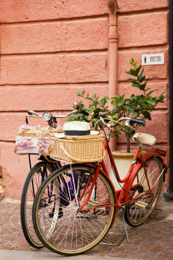 Two Objects「Two Bicycle with Basket. Color Image」:スマホ壁紙(19)