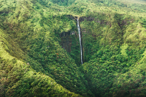 Ravine「Scenic Honokohau Aerial View Hana Maui Waterfall Haleakala National Park」:スマホ壁紙(17)