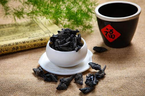 キクラゲ「Neat black fungus」:スマホ壁紙(16)