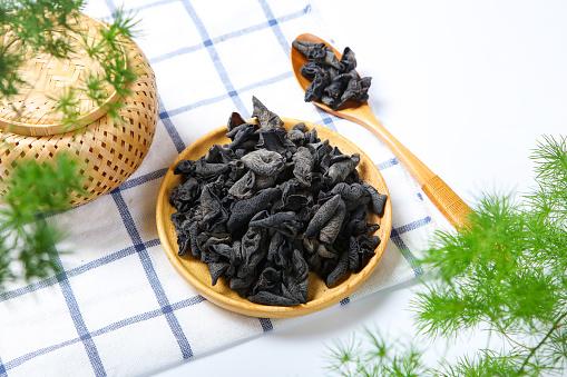キクラゲ「Neat black fungus」:スマホ壁紙(2)