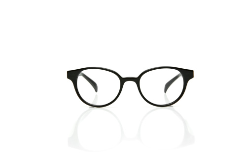 Black Color「Nerd Glasses with reflection」:スマホ壁紙(11)