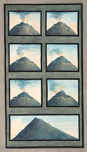 Variation「Snapshots Of The Eruption Of Mount Vesuvius From 8Th July To 29Th October」:写真・画像(8)[壁紙.com]