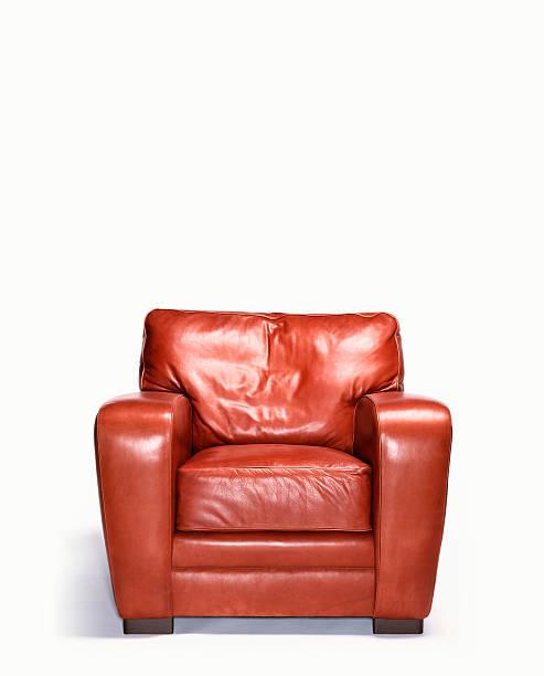 Empty leather armchair:スマホ壁紙(壁紙.com)
