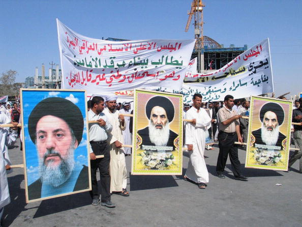 Sunni Islam「Iraqi Shiites Protest Shrine Bombing in Najaf」:写真・画像(1)[壁紙.com]
