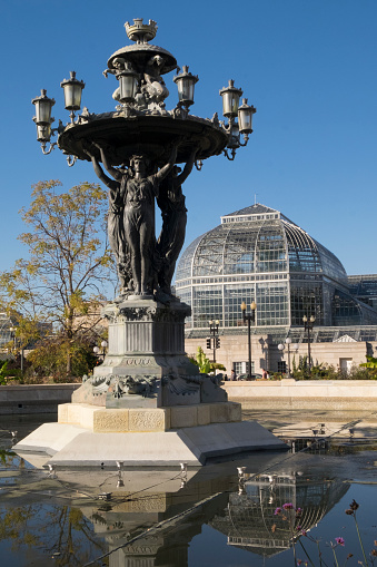 1870-1879「The Bartholdi Fountain and Conservatory building」:スマホ壁紙(14)