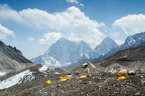 Khumbu Glacier「Climber's Tents at Everest Base Camp」:スマホ壁紙(17)