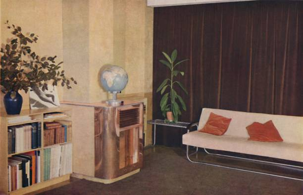 Mr J C Pritchards Sitting-Room In The Isokon Lawn Road Flats 1:ニュース(壁紙.com)