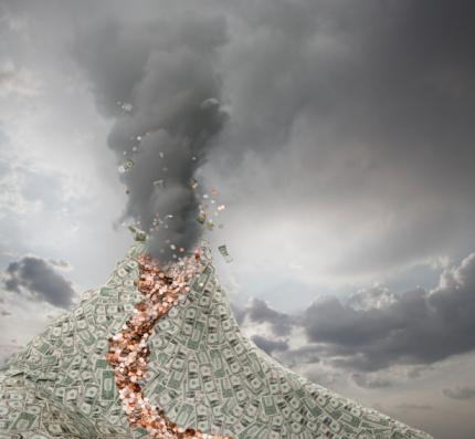 Volcano「Volcano Erupts Spewing out Money」:スマホ壁紙(5)