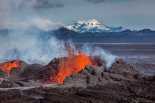 Bardarbunga Volcano「Volcano Eruption at the Holuhraun Fissure near Bardarbunga Volcano, Iceland」:スマホ壁紙(16)