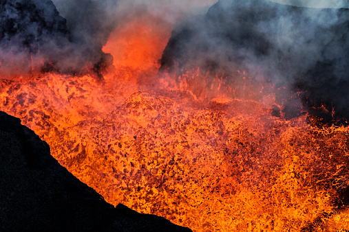 Lava「Volcano Eruption, Holuhraun, Bardarbunga, Iceland」:スマホ壁紙(12)