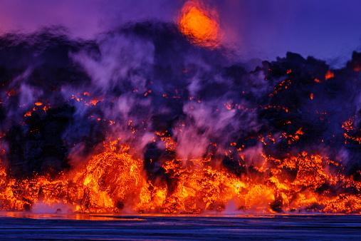 Bardarbunga Volcano「Volcano Eruption, Holuhraun, Bardarbunga, Iceland」:スマホ壁紙(9)
