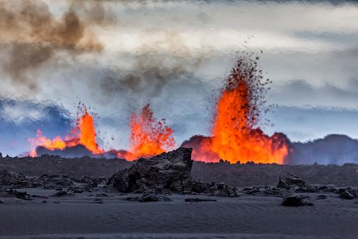 Active Volcano「Volcano Eruption, Holuhraun, Bardarbunga, Iceland」:スマホ壁紙(4)
