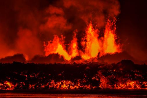 Active Volcano「Volcano Eruption, Holuhraun Fissure, Iceland」:スマホ壁紙(10)
