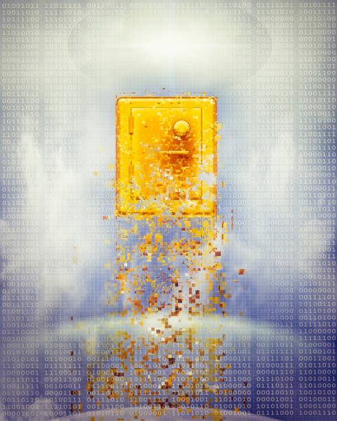 Pixelated safe in sky:スマホ壁紙(壁紙.com)