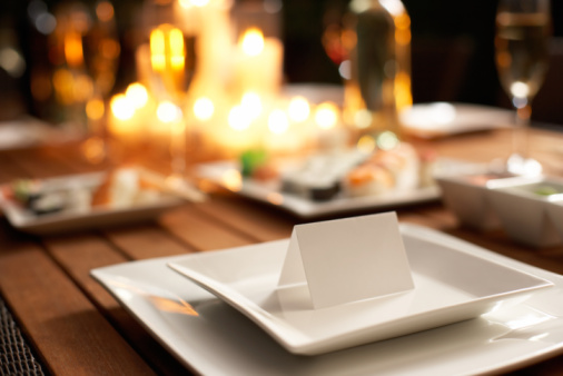 Place Card「Place card on table set for dinner party」:スマホ壁紙(19)