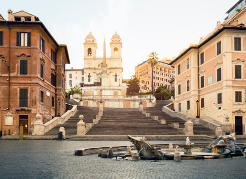 Fountain「Piazza di Spagna, Spanish steps, Rome」:スマホ壁紙(15)