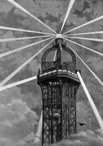 Electric Light「The electric light on top of the Eiffel Tower, Paris, 1889.」:写真・画像(7)[壁紙.com]