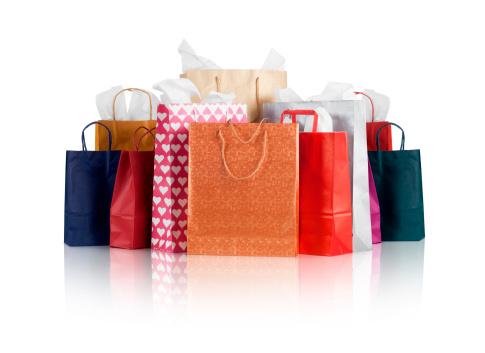 Conceptual Symbol「Shopping Bags w/clipping path」:スマホ壁紙(13)