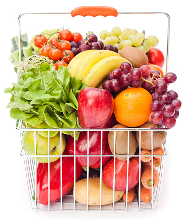 Shopping Basket「Shopping basket with fruits and vegetables」:スマホ壁紙(7)