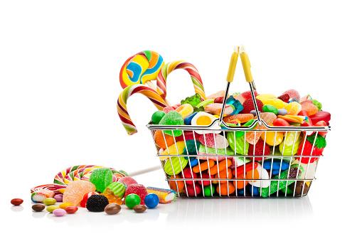 グミ・キャンディー「Shopping basket filled with colorful candies46」:スマホ壁紙(8)