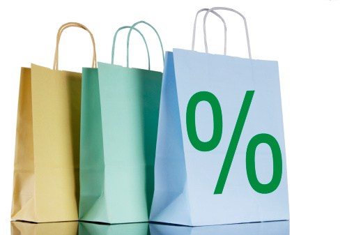 Percentage Sign「Shopping bags with percent-sign」:スマホ壁紙(13)