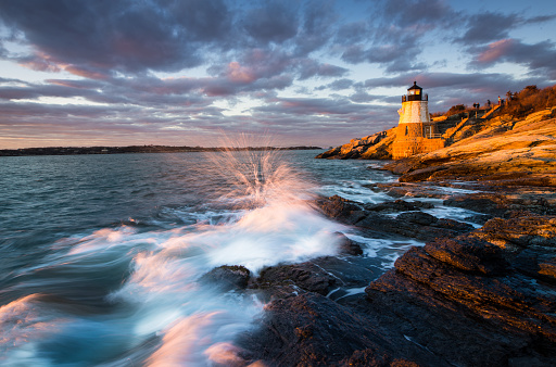 Castle「Castle Hill Lighthouse Landscape at Sunset」:スマホ壁紙(12)