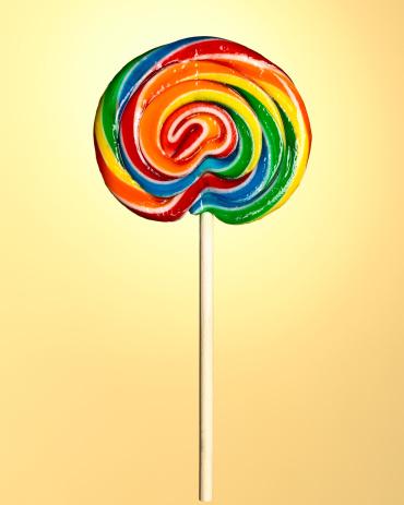 虹「棒付きキャンディ」:スマホ壁紙(5)